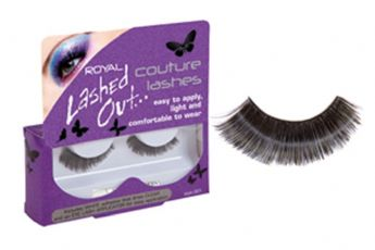 ROYAL LASHED OUT FALSE EYELASH EYELASHES PLUS ADHESIVE GLUE SHORT & CHIC 002